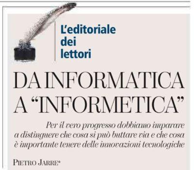 Da informatica a informetica