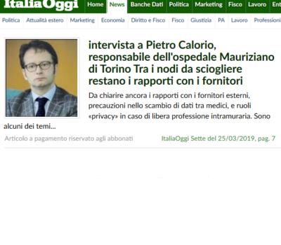 Privacy & Sanità – Intervista a Pietro Calorio