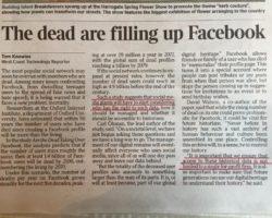 Gli account di persone decedute su Facebook stanno diventando un problema
