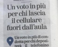 Un voto in più a chi lascia il cellulare fuori dall'aula